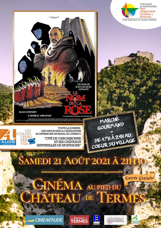 Samedi 21 août : marché gourmand et cinéma au château !