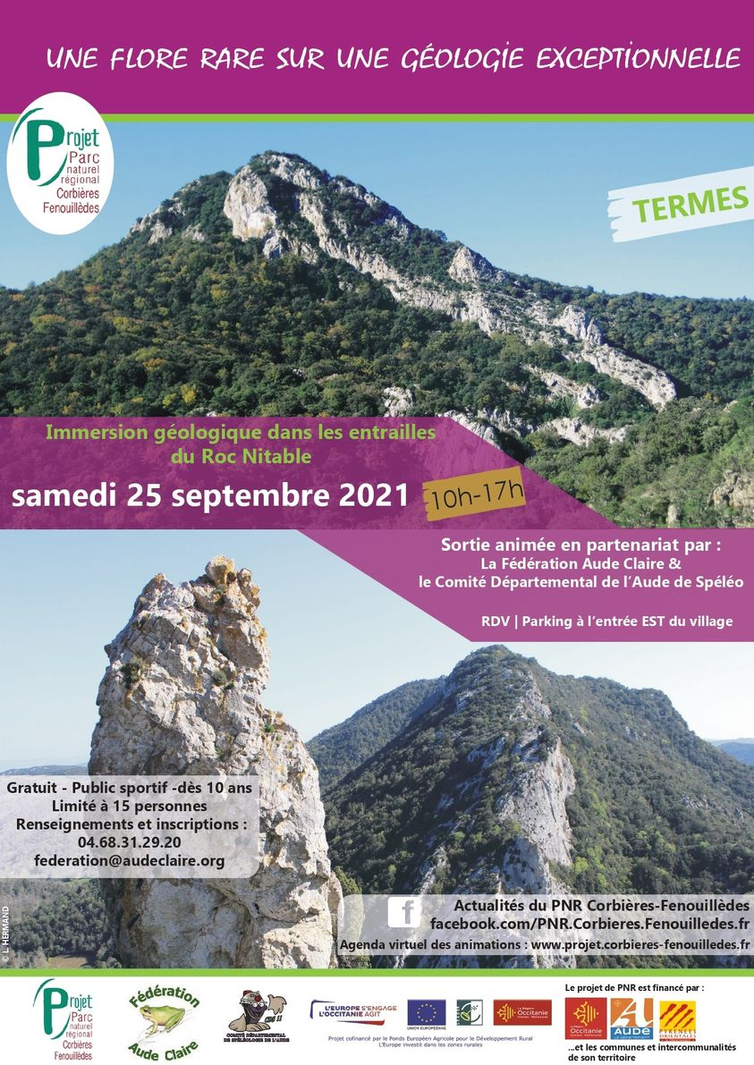 25 septembre : Immersion géologique dans les entrailles du Roc Nitable.